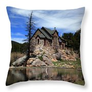 St. Malo Chapel Throw Pillow