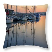 St. Malo Sunrise Brittany France Throw Pillow