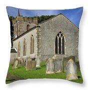 St Margaret's Church - Wetton Throw Pillow