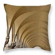 St. Marks Basilica Arches Venice Throw Pillow
