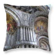 St Marks Entry - Venice Italy Throw Pillow