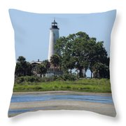 St Marks Lighthouse Throw Pillow