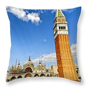 St Marks Square - Venice Italy Throw Pillow