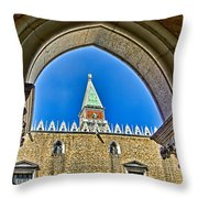 St Marks Tower - Venice Italy Throw Pillow