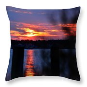 St. Marten River Sunset Throw Pillow
