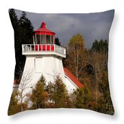 St. Martins Lighthouse Throw Pillow