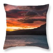 St. Mary Lake Dawn 2 Throw Pillow