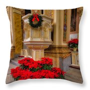 St. Mary Of The Angels Christmas Lectern Throw Pillow