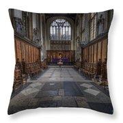 St Mary The Virgin Church - Choir And Altar Throw Pillow