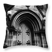 St Marys Cathedral Doors Throw Pillow