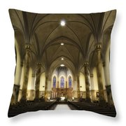 St Mary's Catholic Church Throw Pillow by Lynn Geoffroy