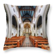 St Mary's Catholic Church - The Nave Throw Pillow