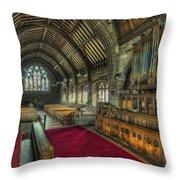 St Marys Church Organ Throw Pillow