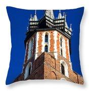 St. Mary's Church Tower Throw Pillow