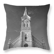 St. Mary's Of Port Washington  B-w Throw Pillow