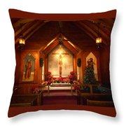 St. Mary's The Mystery Of Faith Frescoe Throw Pillow by Diannah Lynch