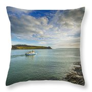 St Mawes Ferry Duchess Of Cornwall Throw Pillow