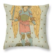St Michael And All Angels By English School Throw Pillow