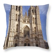 St Michael And St Gudula Cathedral Throw Pillow
