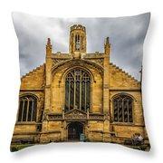 St Michael Le Belfry Church Throw Pillow