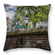 St. Michaels Alley Throw Pillow