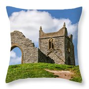 St Michael's Church - Burrow Mump 4 Throw Pillow