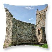 St Michael's Church - Burrow Mump 5 Throw Pillow