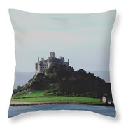 St Michael's Mount From The East Throw Pillow