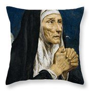 St Monica Throw Pillow