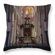 St Nicholas Church Ghent Throw Pillow