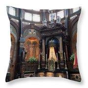 St Nicholas Church Interior In Amsterdam Throw Pillow