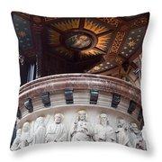 St Nicholas Church Pulpit In Amsterdam Throw Pillow