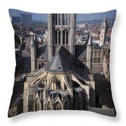 St Nicholas Church View Throw Pillow