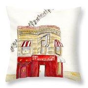 St. Nick's Jazz Pub Throw Pillow
