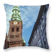 St. Nikolai Church Tower Throw Pillow