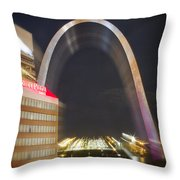 St Ouis Arch Special Zoom Effect Throw Pillow