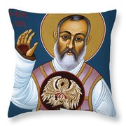 St. Padre Pio Mother Pelican 047 Throw Pillow