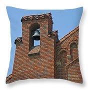 St Patrick Parish Bell Tower Throw Pillow