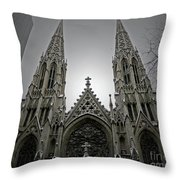 St. Patricks Cathedral  Throw Pillow by Angela Wright