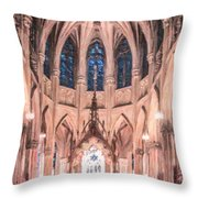 St Patricks Cathedral New York Usa Throw Pillow