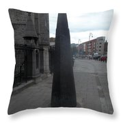 St. Patrick's Cathedral Sidewalk Spire Throw Pillow