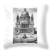 St. Paul Cathedral - London - 1792 Throw Pillow