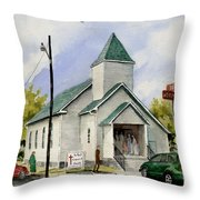 St. Paul Congregational Church Throw Pillow