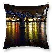 St Pauls And Millenium Bridge Throw Pillow