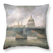 St. Paul's Cathedral From The Southwark Bank Throw Pillow