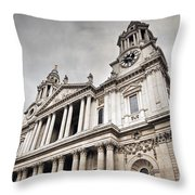 St Pauls Cathedral In London Uk Throw Pillow