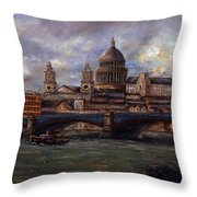 St. Paul's  Cathedral  - London Throw Pillow