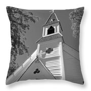 St. Paul's Church Port Townsend In B W Throw Pillow