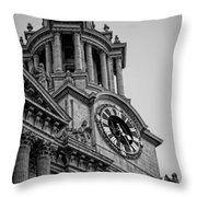 St Pauls Clock Tower Throw Pillow