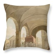 St. Pauls, Covent Garden C.1765-75 Graphite And Wc On Paper Throw Pillow